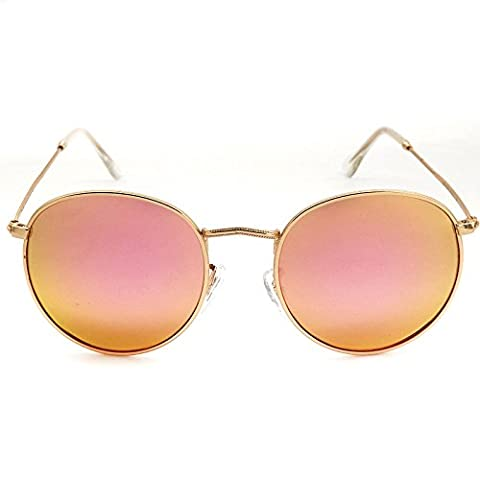 Vintage Color Film Round Box Prince Mirror Polarized Sunglasses Woman Sunglasses , 1