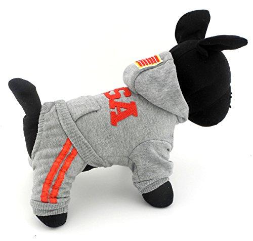 Pet Cat Hundemantel Hunde Pullover weicher Baumwolle Hoodie USA Pullover Kostüme Hund Kleidung S M L XL XXL (Run Kleine, Bitte die nächsten nehmen 2Größe) (Katze Auf Dem Rücken Hund Kostüme)