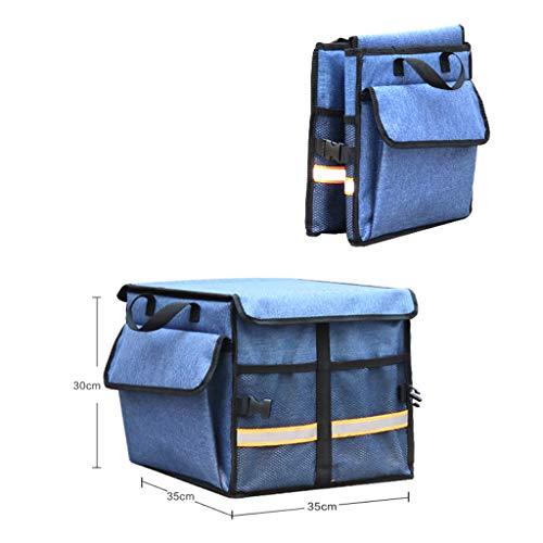 Cassiel Y Boîte De Rangement pour Voiture - Facile À Nettoyer, Pliable, Poignée en Aluminium (Bleu),#1