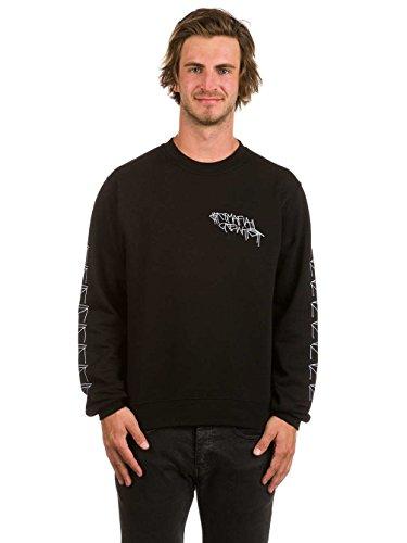 Herren Langarmshirt SK8 Mafia Crew T-Shirt Black