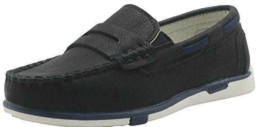 Black Kids Mokassin (Shengjuanfeng Müßiggänger Bootsschuh Slip On Schuhe (Kleinkind/kleines Kind) (Color : 626-Black, Size : 12.5 M US Little Kid))