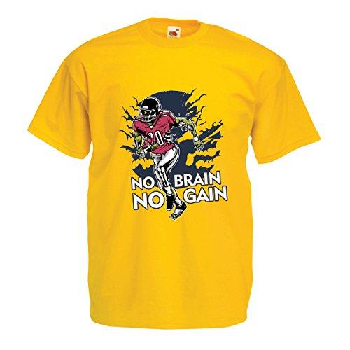 Gehirn, kein Gewinn! Zombie Football Player - inspirierende Fußball Zitate (Medium Gelb Mehrfarben) ()