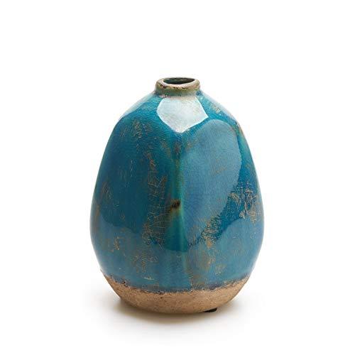 Black Velvet Studio Vase Atenas, Keramik, Color Blau, türkis Vase15x10x10 cm. -