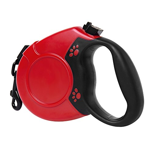 Einziehbare Hundeleine, Greleaves Pet Automatisches Teleskop-Hunde-Traktionsseil mit Doppelte Taste und Zinklegierungshaken und 16 FT Nylon Flachriemen for S / M / L Haustier (bis 100 lb)