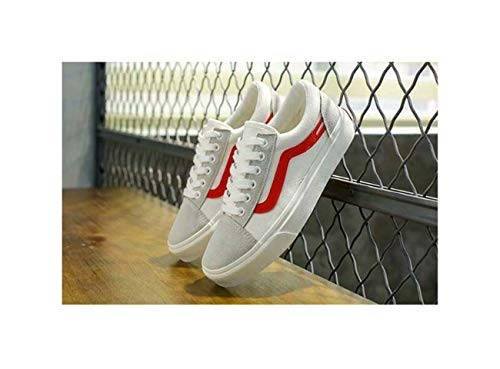 New Canvas Casual Platform Fashion Comfortable University Women's Shoes White EUR 36 - 300 Med-box