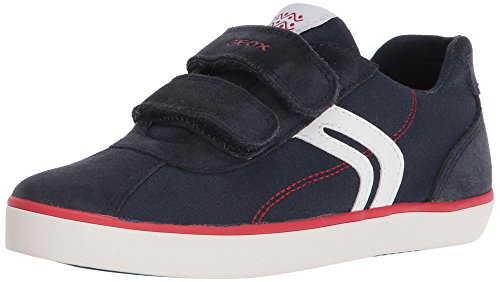 Geox Jungen J Kilwi I Low-Top Sneaker, Blau (Navy/Red), 35 EU