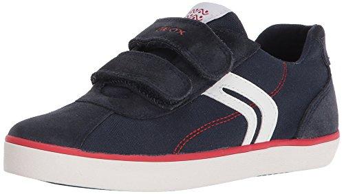 Geox Jungen J Kilwi  I Low-top Sneaker, Blau (Navy/Red), 34 EU