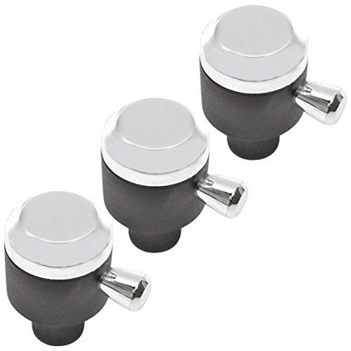 Spares2go Interruptor de control knob para Rangemaster 90110–Horno fuegos (plata/cromo) 3 unidades
