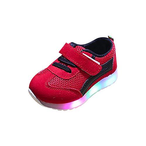 BBestseller Zapatillas Unisex Niños Zapatos ligeros LED malla transpirable movimiento Zapatillas para Bebés zapatos de la malla zapatos casuales