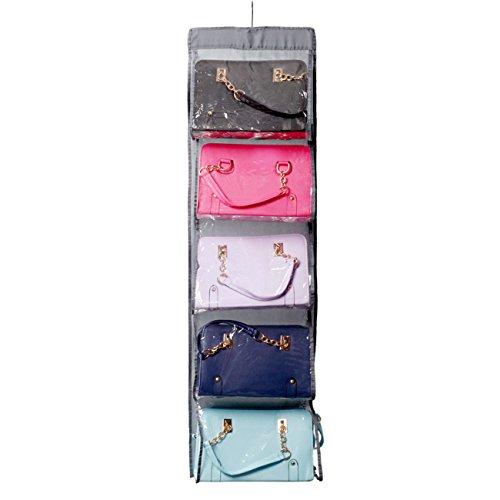 THEE Hängender Handtaschenhalter Schrank Organizer Taschen Organizer Garderobe für Handtaschen, Clutches (Schrank-tür-speicher)
