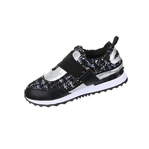 Damen Schuhe Freizeitschuhe Sneakers Turnschuhe Schwarz