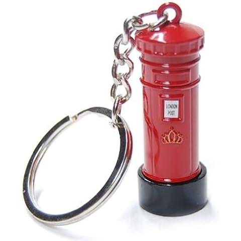 Londres, Tienda de regalos / Metal troquelado Llavero - 3D Post Box Red