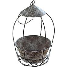 Pretty-Jin Pot de Fleur Arrangement de Fleurs Pot de Fleurs en Fer forgé Cage à Oiseaux individuels Cage de Fleurs Plantes succulentes Pot pour Combinaison Suspendu Hanging Pots de Fleurs Panier