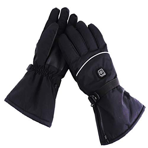 Männer Damen Wiederaufladbare elektrische warme beheizte Handschuhe Batteriebetriebene Wärmehandschuhe Kit, Winter Sport Outdoor Wärmeisolierende Handschuhe zum Klettern Skifahren Wandern Handwärmer