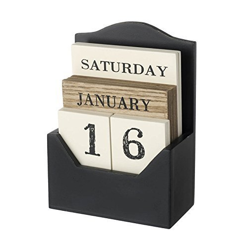 Brown & Cream Wooden Calendar Block