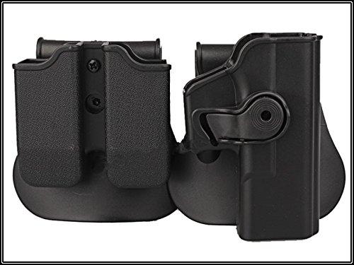 Paintball Equipment Rechte Hand Pistolenholster für Glock 17/22/31 und doppelt Magazintasche