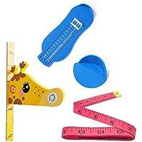 LjzlSxMF Pie Profesional Instrumento de medición de Altura de los Zapatos Regla Habitación Sala de medición magnética de los niños Pegatinas Decorativas 150 cm Suave Regla para niños de los niños