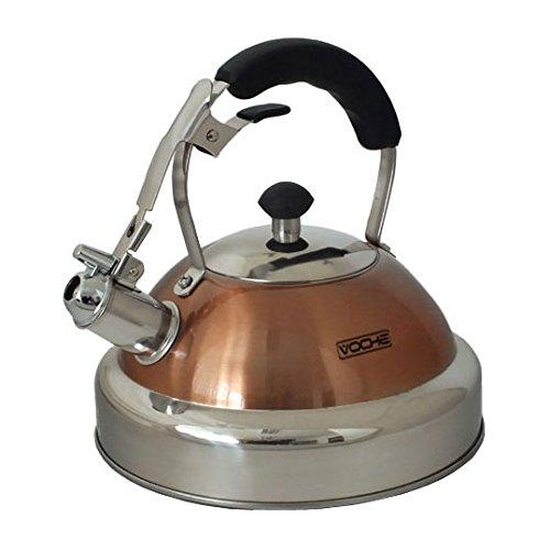 Voche® - Hervidor de agua de acero inoxidable y de cobre, con capacidad de 3,5 litros