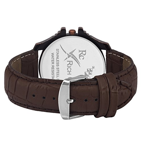 Rich Club Pack Of 4 Multicolour Analog High Quality Leather Belt Analog Watch For Men And Boys
