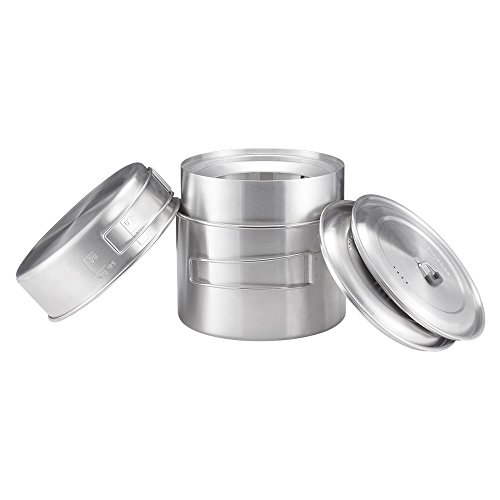 41XZsJJU qL. SS500  - Solo Stove 2 Pot Set: Stainless Steel Companion Pot Set Campfire. Great for Backpacking, Camping, Survival
