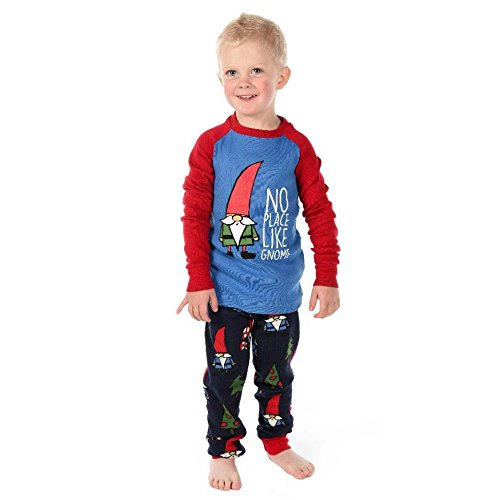 Lazy-One-LazyOne-Unisex-No-Place-Like-GNOME-Kids-PJ-Set-Long-Sleeves