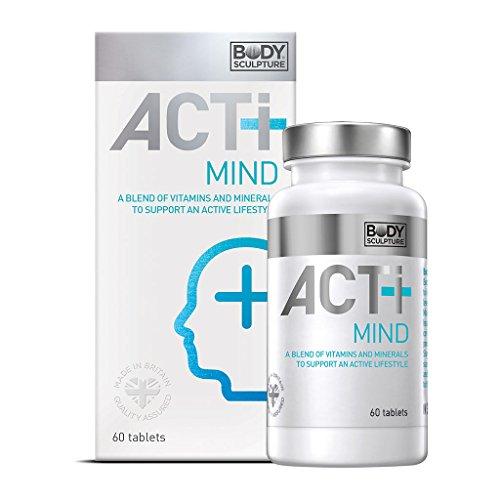 ACTI+ Mind 60 Tabletten ideale Kombination Vitamine & Mineralstoffe zur Unterstützung der Gehirnfunktion & Konzentration