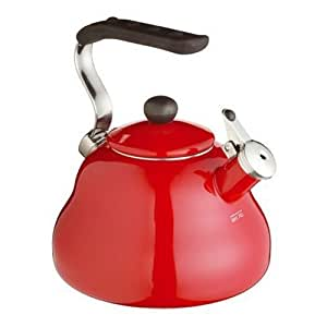 KitchenCraft Le'Xpress Induction-Safe Whistling Stovetop Kettle, 2 L (3.5 Pints) - Chilli Red
