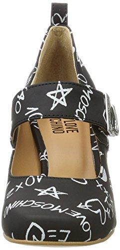 Love Moschino W.shoe, Chaussures À Talons Multicolores Pour Femme (black Chalk)