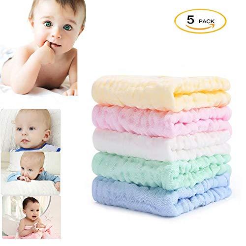 S&G Top 5 Pieza Muselinas Organicas para Bebe