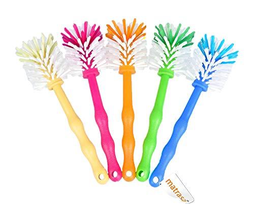 matrasa Spülbürste Tassenbürste - ideal für Thermomix ® TM5 TM31 und TM21 - mit Nylonborsten (5er Pack (je Farbe 1x) zum Sparpreis)