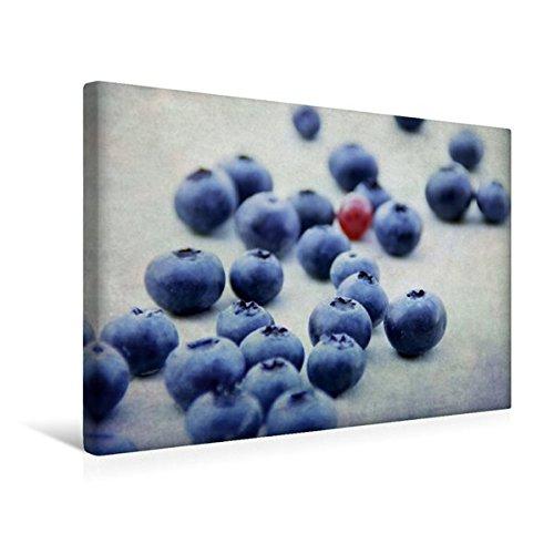 Premium Textil-Leinwand 45 cm x 30 cm quer, Blaubeeren Fine Art | Wandbild, Bild auf Keilrahmen, Fertigbild auf echter Leinwand, Leinwanddruck: Frische Blaubeeren im Stillleben (CALVENDO Gesundheit);CALVENDO Gesundheit