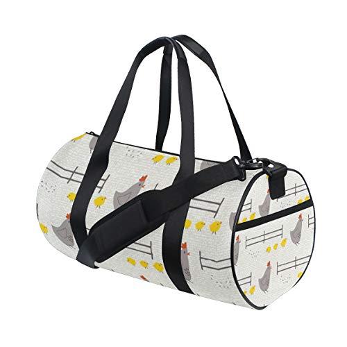 ZunYouHui Große Sporttasche Wildflower Farm Hen Chicks Sport Duffel Bag Gym Bag für Damen & Herren -