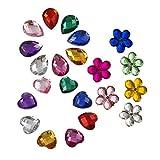 SUPVOX 300pcs Gemas Transparentes AB Cristales de Coser de Acrílico Facetados Diamantes de Imitación de Espalda Plana para Decoración de Vestido Ropa (Color Mezclado)
