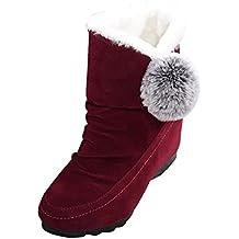 Toamen Botines de moda para mujer,Zapatillas informales Cálidos cómodos zapatos de gamuza