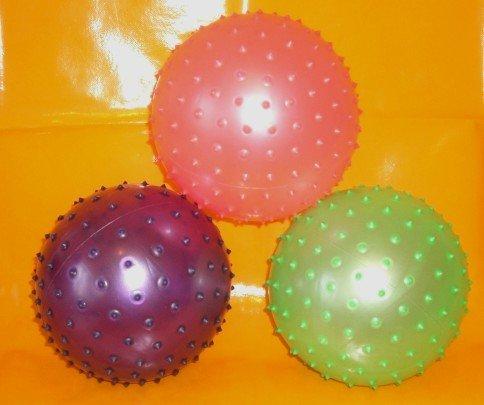 Igelball,Massageball,Noppenball,Stachelball, 6 Stück mit 20 cm Durchmesser