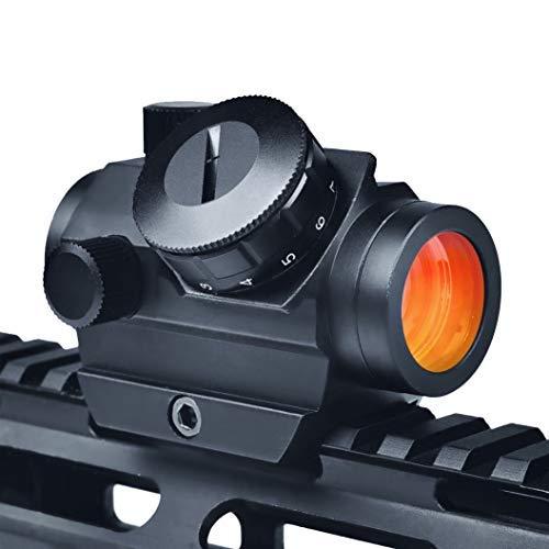 """Viiko Red Dot Visier 1x25 Reflex Rotpunktvisier Wechselbares 2MOA Punkt Holographische Zielfernrohr 1\"""" Zoll ansteigen Picatinny 20mm Montieren 1/3 Co-Zeuge Eisen Anblick"""