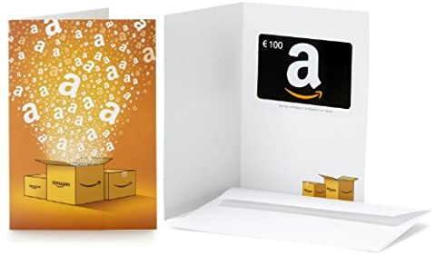 Carte cadeau Amazon.fr - €100 - Dans une carte de vœux Amazon