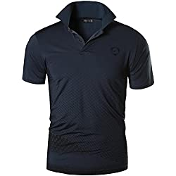 jeansian Homme De Sport Outdoor Manches Courtes Polos Quick Dry Men Casual Wicking Breathable Running Short Sleeved Fitness Polo T-Shirt Tops LSL195 Gray XL(XXL)