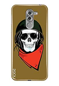 Honor 6X cover, Noise Printed Case Cover For Huawei Honor 6X Designed Specially As Hard Shell Case / Patterns & Ethnic / Ghost rider Design - (TP-41)