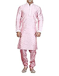 Royal Men's Silk Blend Sherwani (ROYAL_292_Blue _Medium)