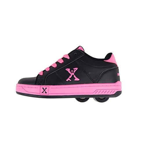 Sidewalk Sport Lane Kinder Maedchen Rollen Schuhe Sneaker Turnschuhe Rollschuhe Black/Pink