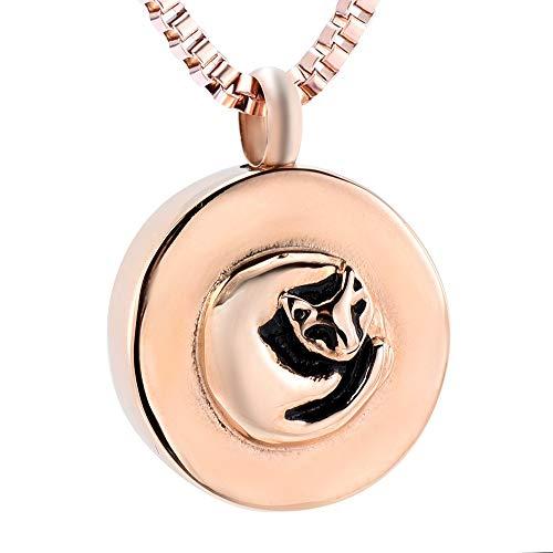 erbestattung Urne Halskette Urne Medaillon Andenken Asche Halter Halskette Memorial Pet Asche Schmuck ()
