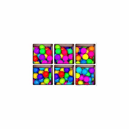 Décorations de Noël pour Halloween (arc - en - ciel candy) 3d baignoire antidérapants sticker / creative / frosted / les / home / bath / sticker / hd / auto - adhésif (13 * 13cm * 6pcs)