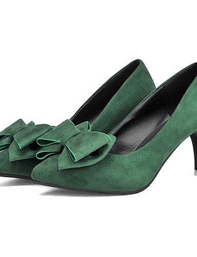 WSS 2016 Chaussures Femme-Décontracté-Noir / Vert foncé / Bordeaux-Talon Aiguille-Talons-Chaussures à Talons-Laine synthétique dark green-us8 / eu39 / uk6 / cn39