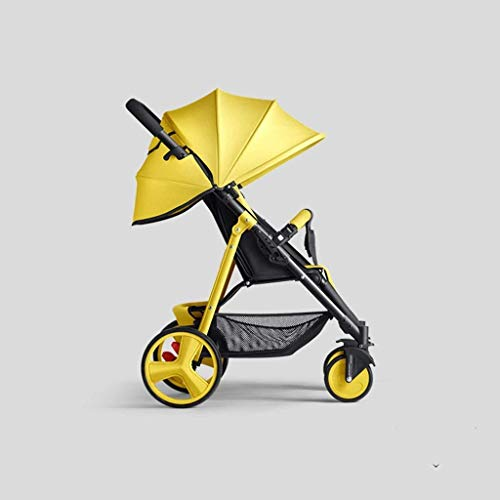 JJJJD Kinderwagen Baby Cart High Landscape Light Kann Sitzen Und Liegen Falten Suspension Vier Runden Kinderwagen Trolley - Lite Cart
