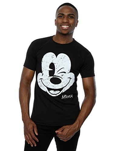 Disney Herren Mickey Mouse Distressed Face T-Shirt XX-Large (Disney Shirts T)