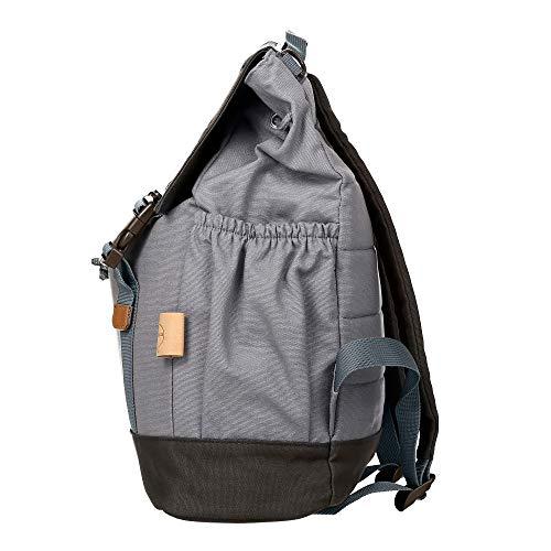 Lässig Vintage Little One und Me groß Backpack Wickelrucksack/Wickeltasche inkl. Wickelzubehör, grey - 5
