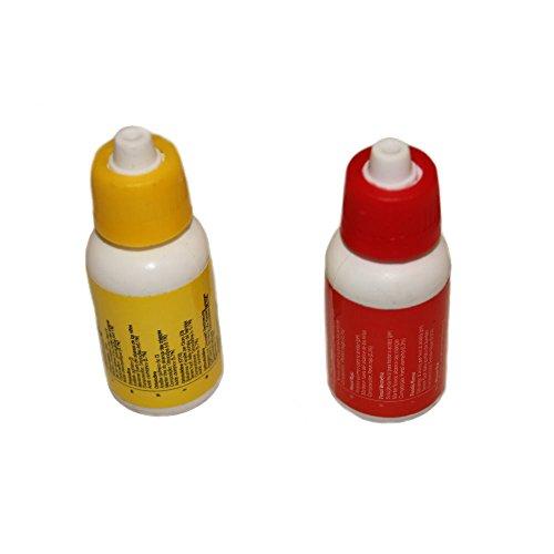 Nachfüllset für Pool Wassertester flüssig für Chlor & pH von Duraol®