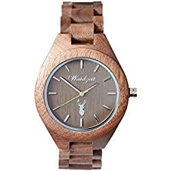 The Time of the walk] Watch Men's Watch Wood Overgrip GA02
