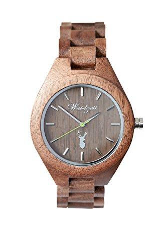 Waidzeit Unisex-Uhr Holz GAMS Platzhirsch Armbanduhr GA02